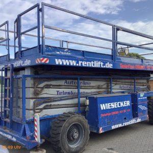 34m Hollandlift Scherenarbeitsbühne 300DL30 - Seitenansicht