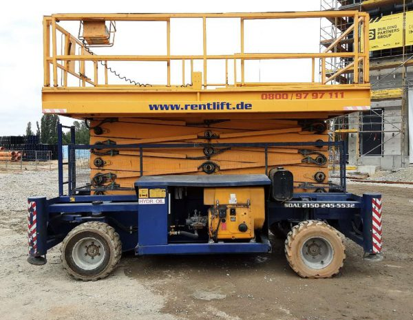 Scherenarbeitsbühne Diesel Hollandlift B-195 DXL 25 4 WD