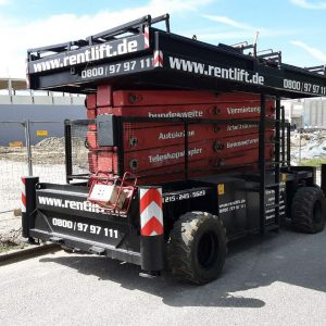 Scherenarbeitsbühne Diesel Hollandlift B-195 DXL 25